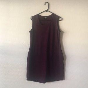 Sleeveless Purple Dress with Pockets
